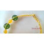 Complete Set Necklace Yellow green Dyed Quartz (Green)