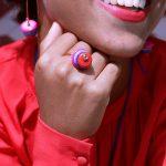Ring Multi-color Howlite