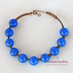 Set Blue Dyed Quartz (Blue)