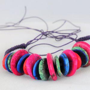 Bracelet Multi-Color Howlite