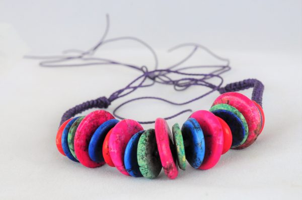 Bracelet Multi-Color Howlite