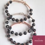 Black Tourmaline Wire bangle