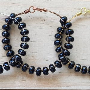 Black Agate Wirebangle