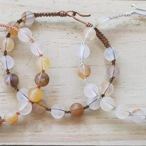 Citrine Frosted Wirebangle