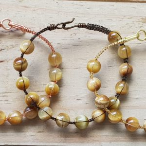 Golden Tiger's Eye Wire bangle