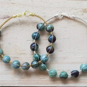 Opal (green) Wirebangle