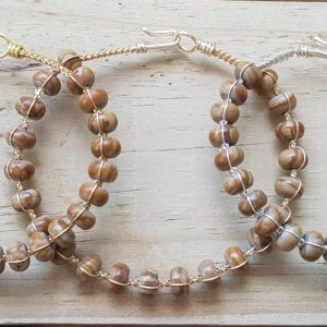 Wood Lace Stone Wirebangle