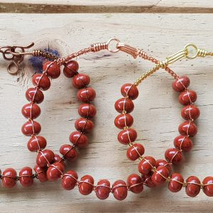 Red Jasper Wirebangle