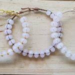 Rose Quartz Rondelle Wirebangle