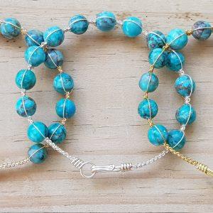 Turquiose (dyed) Wirebangle