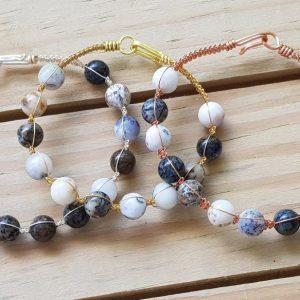 White African Opal Wirebangle