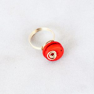 Ring Red Howlite