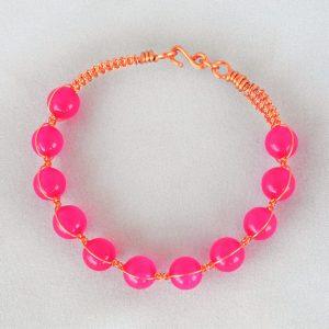 Quartz Pink (dyed) Wirebangle