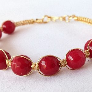 Wirebangle Red Quartzite