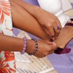 Quartz Purple (dyed) Wirebangle