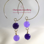 Quartz Purple (dyed) Earring