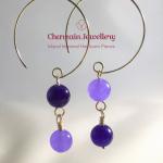 Quartz Purple (dyed) Earring