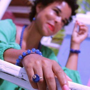 Ring Blue Howlite