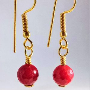 Earring Red Quartzite