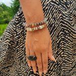 Botswana Agate Wire bangle